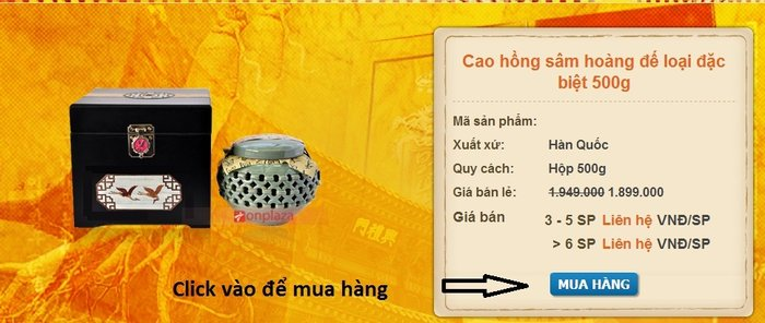mua hang 2 Cao hồng sâm hoàng đế loại đặc biệt 500g NS037