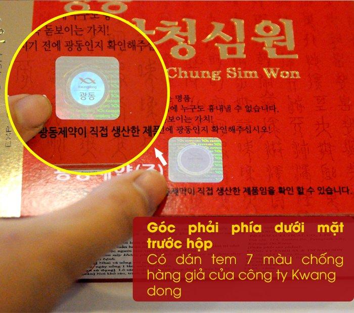 Tem sản phẩm xuất khẩu của công ty KWANG DONG HÀN QUỐC