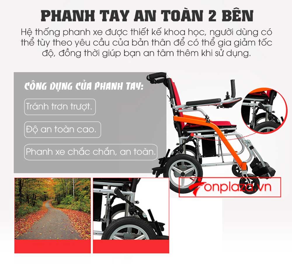 Xe lăn điện gấp - phục hồi chức năng  cao cấp TM031