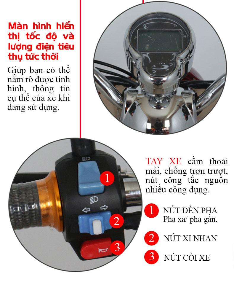 Chi tiết sản phẩm xe điện 3 bánh tm035