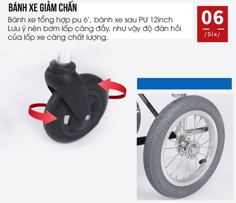 Xe lăn tay siêu gọn nhẹ loại đẩy tay nhâp khẩu TM046