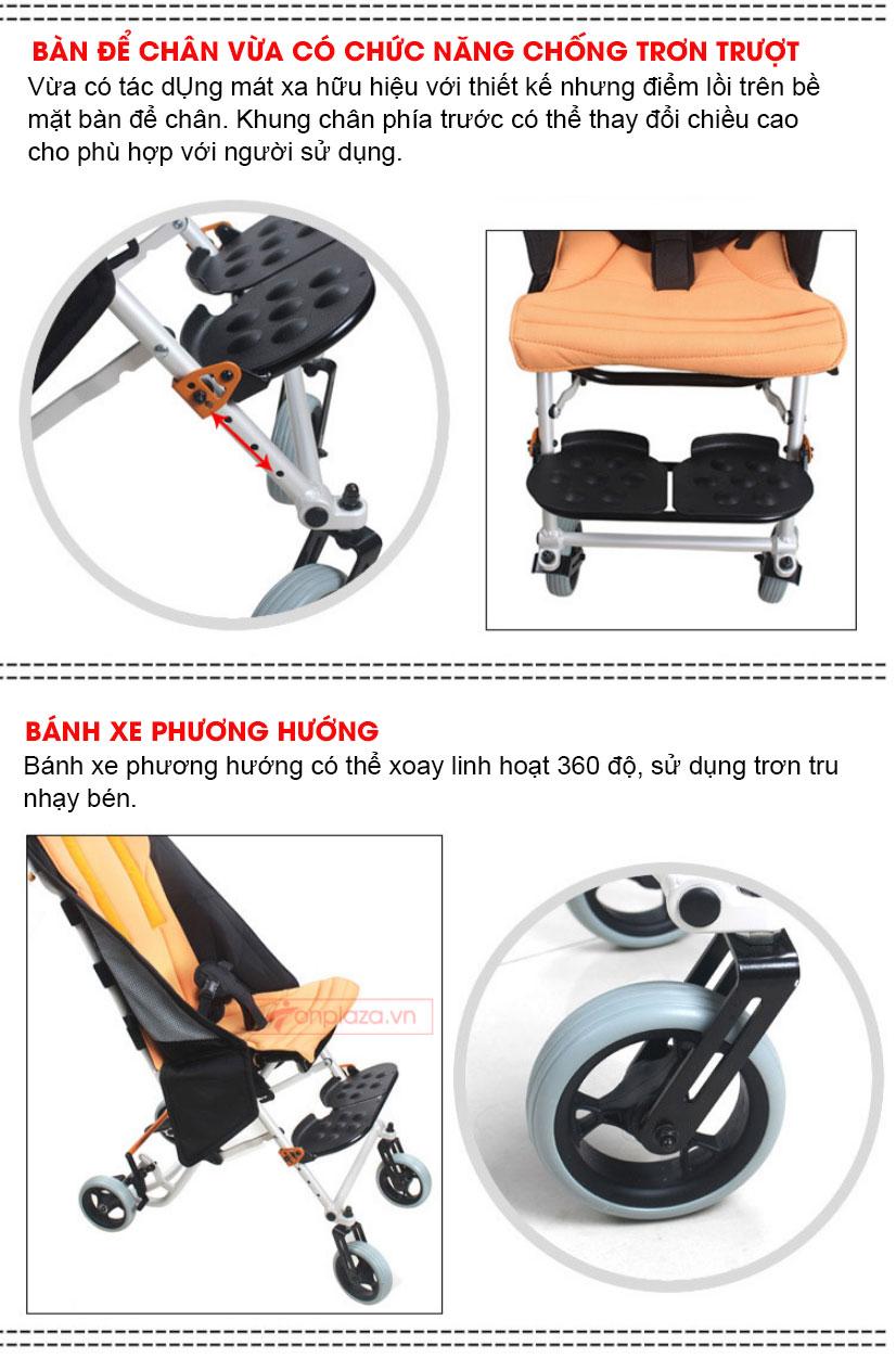 Xe lăn chuyên dụng cho trẻ bại não và khuyết tật TM048
