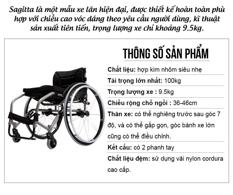 Xe lăn dành cho vận động viên thể thao siêu gọn nhẹ TM055