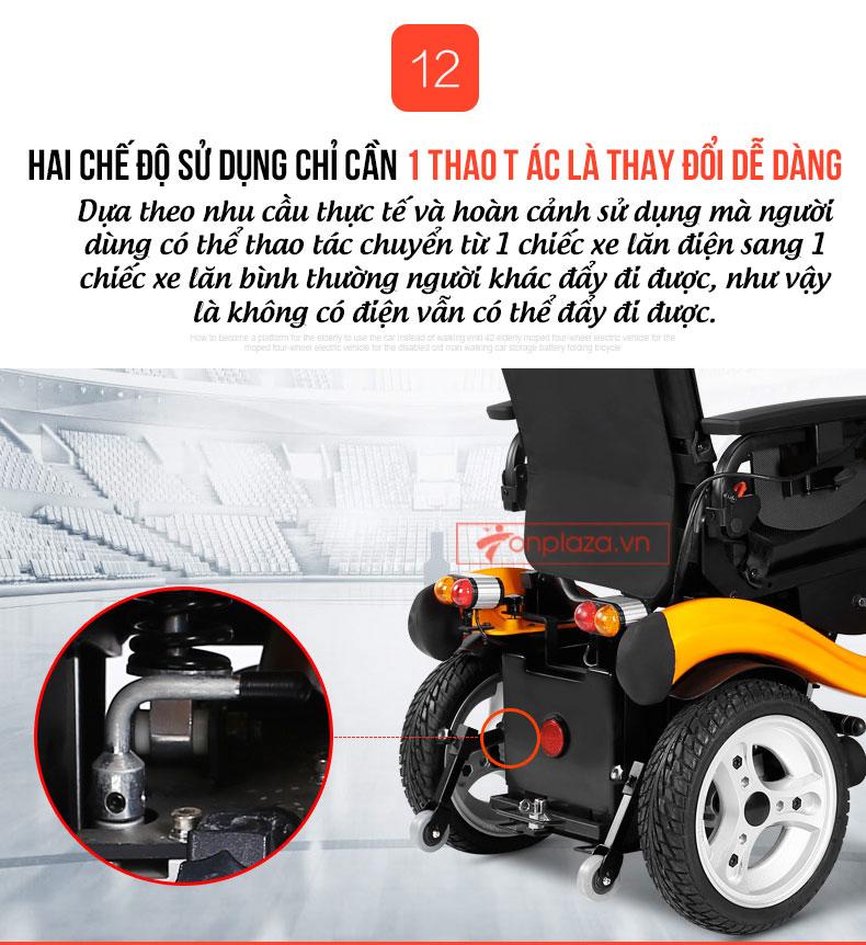 Xe điện đa năng tạo kiểu giường nằm tiện ích TM062