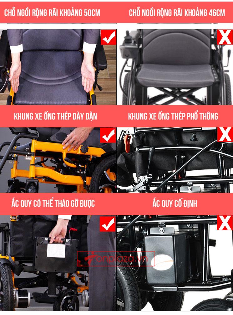 Xe lăn điện đa năng có thể nằm được và gấp được phong cách hiện đại TM083