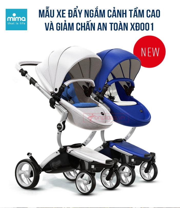 Xe đẩy đa năng cho bé ngắm cảnh tầm cao và giảm chấn an toàn Mima Xari XĐ001