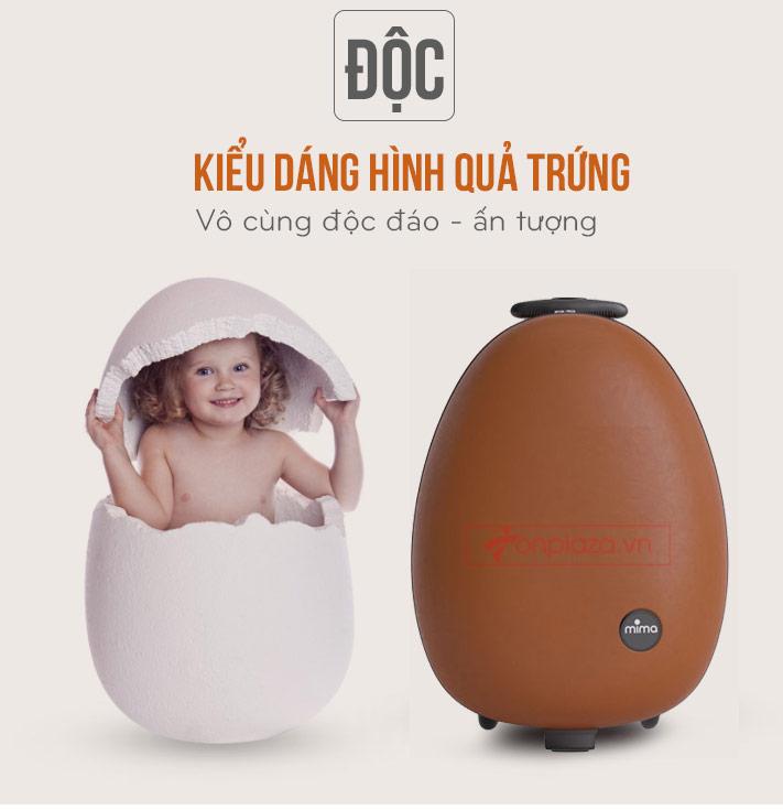 Valy kéo mini hình quả trứng siêu nhẹ siêu đáng yêu dành cho bé Mima Ovi XĐ007