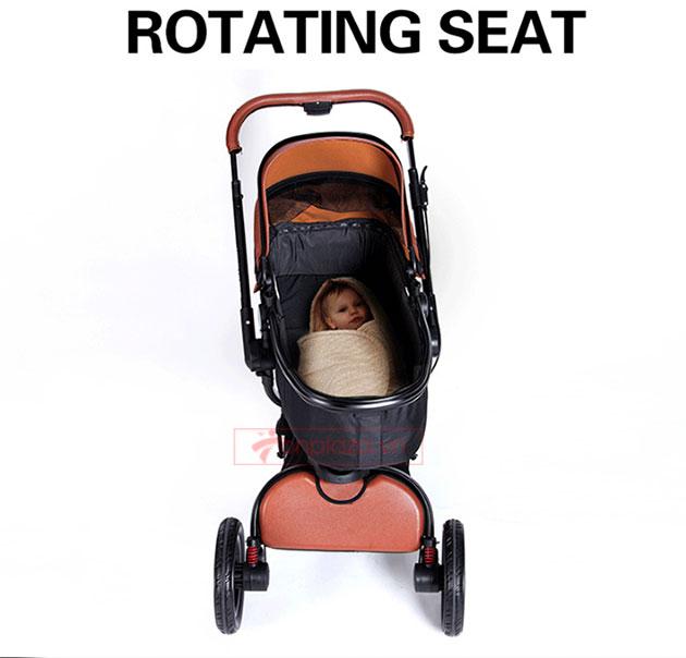 Xe đẩy đa năng giảm chấn ngắm cảnh tầm cao quay 360° tiện lợi cho bé XĐ010