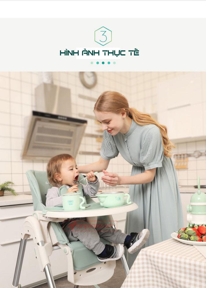 Ghế ăn đa năng hiện đại cho bé dễ gập dễ mang theo XĐ021
