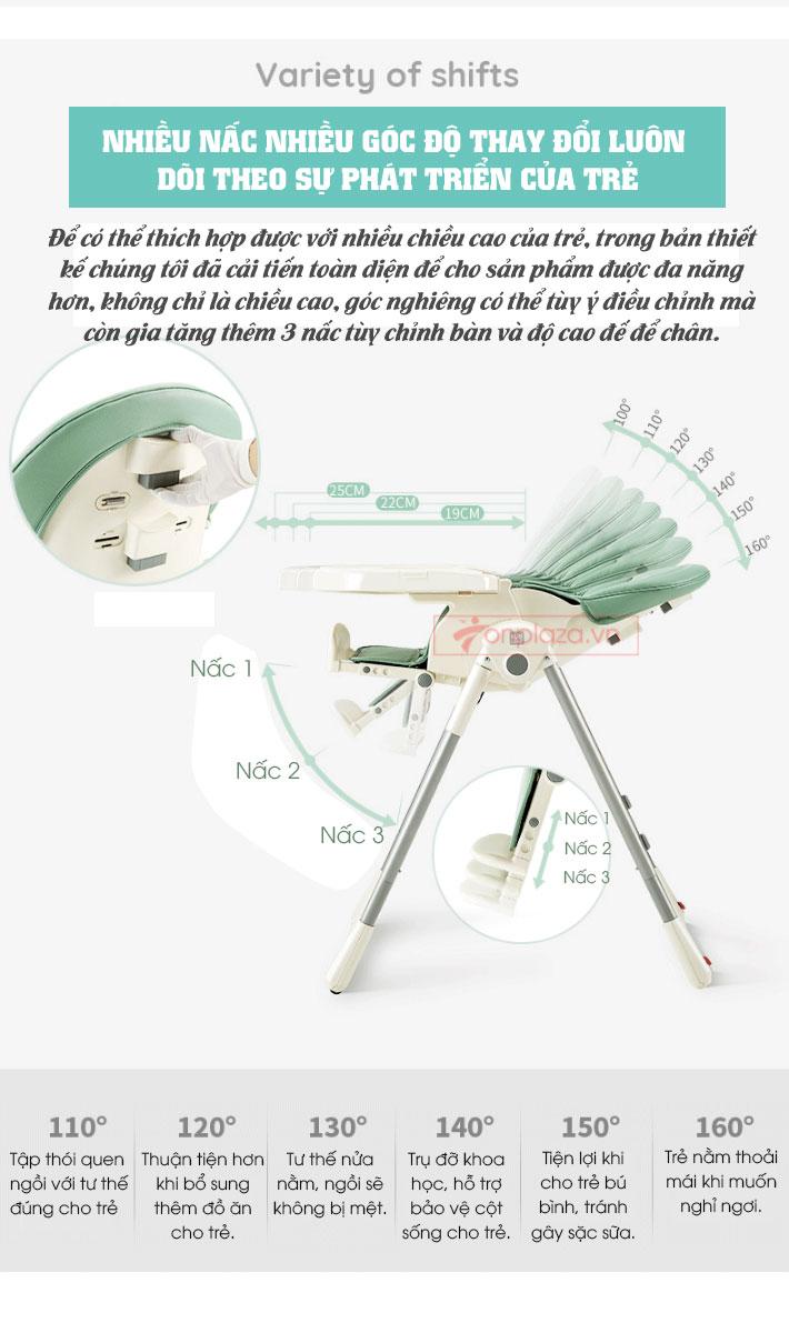 Ghế ăn thư giãn cao cấp dành cho bé có thể tháo lắp dễ dàng XĐ026