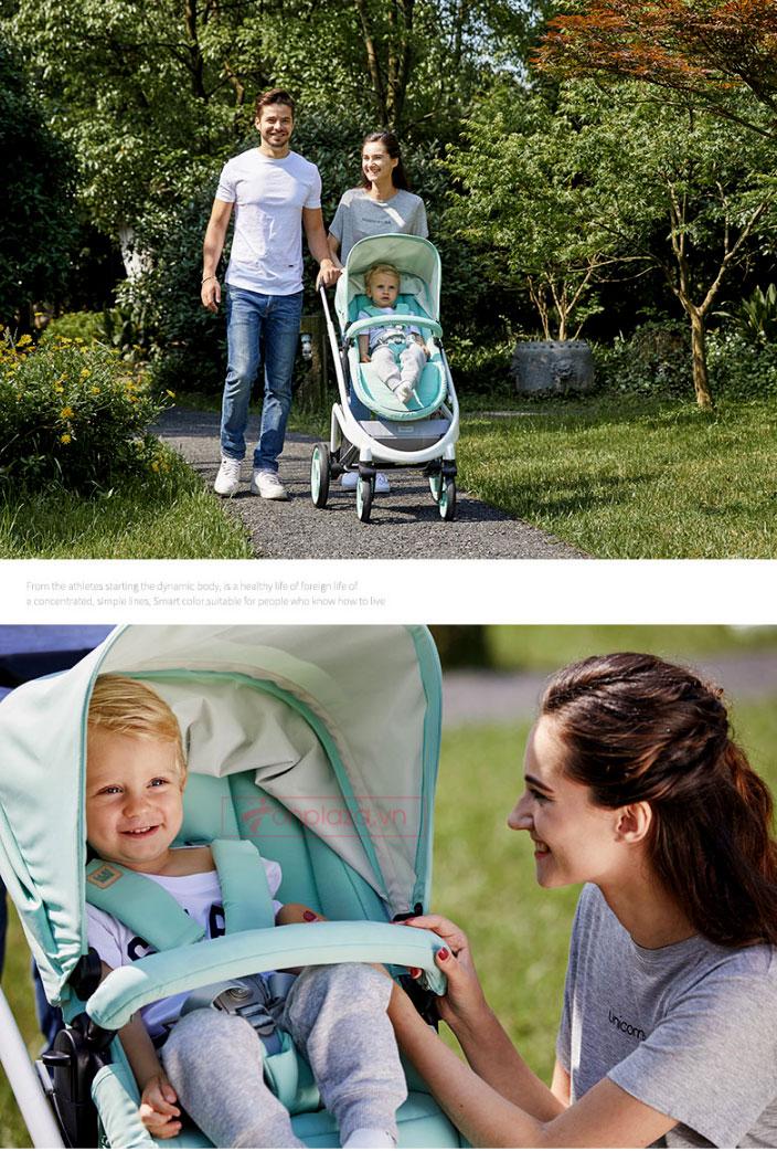 Bộ 2 món xe đẩy cao cấp tiện lợi dành cho bé XĐ027