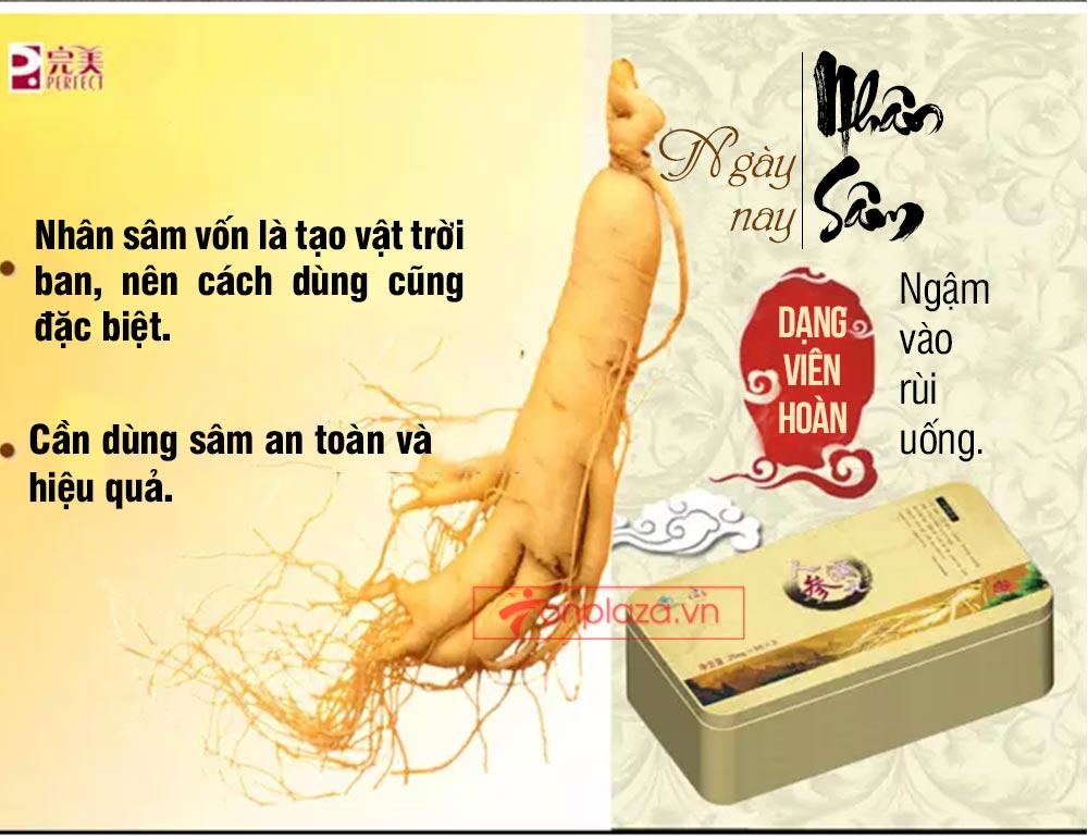 ad hong sam don 06 Hồng sâm đơn cát phúc Tiểu tiên đơn đại bổ sức khỏe NS446