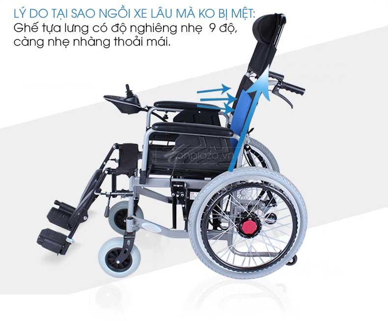Xe lăn điện gấp phục hồi chức năng cao cấp TM034