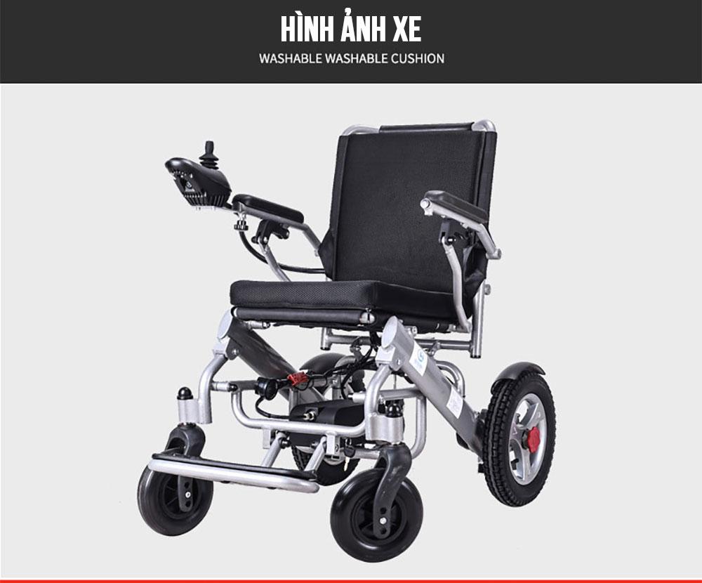 Xe lăn điện gấp thông minh cao cấp đa chức năng TM099