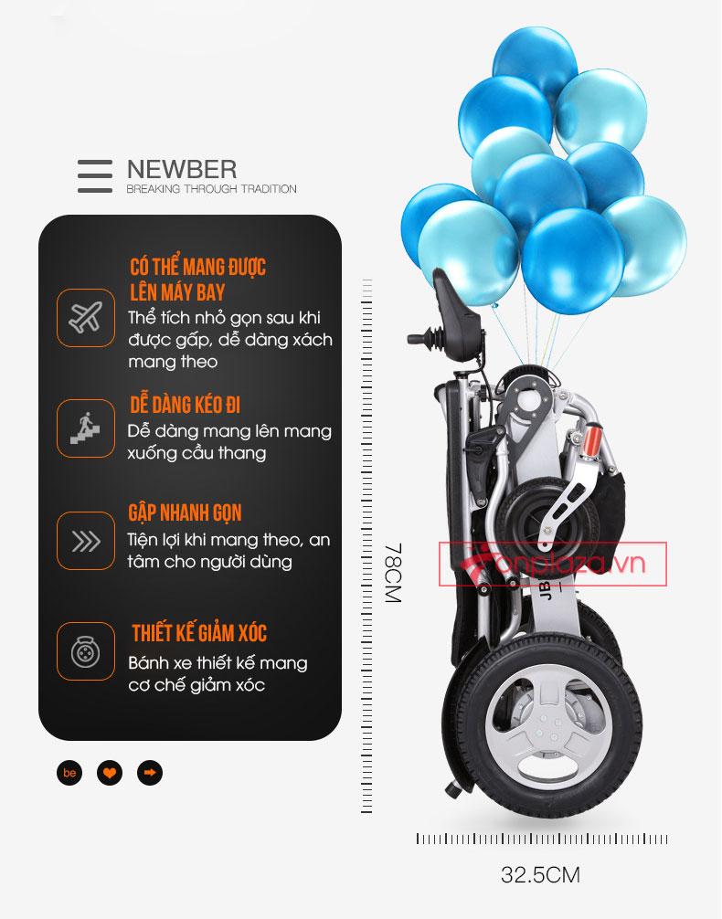 Xe lăn điện gấp định vị GPS cho người phục hồi chức năng TM011