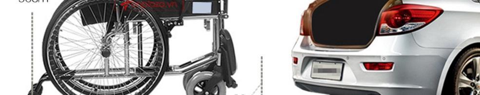 Xe lăn tay khung ngả gập HBG19-B TM023