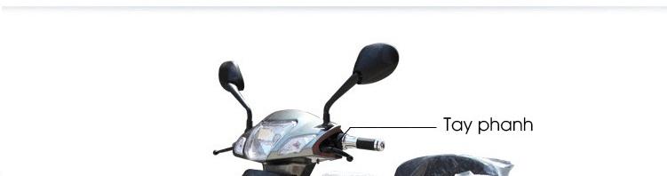 Xe mô tô điện 3 bánh thời thượng màu ghi TM027