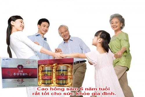 Cao hồng sâm 6 năm tuổi rất tốt cho sức khỏe gia đình bạn