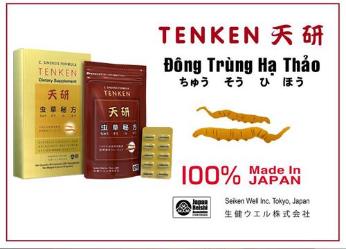 đông trùng hạ thảo tenken có thành phần chính là đông trùng hạ thảo nguyên con