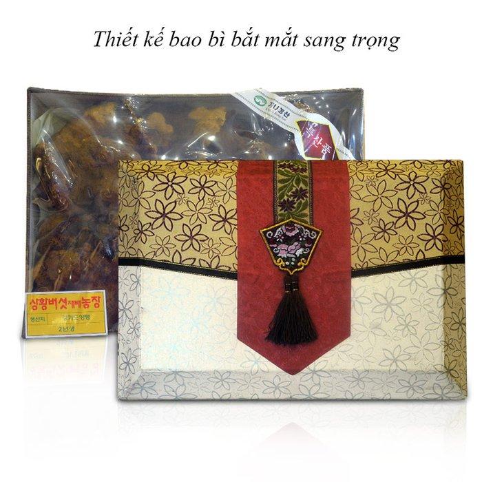 Nấm linh chi cổ hàn quốc được đóng trong hộp quà biếu rất sang trọng