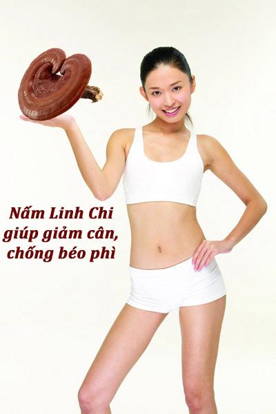 Nấm linh chi giúp giảm cân