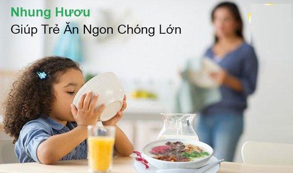 Nhung hươu tươi nấu cháo là món uống bổ dưỡng cho trẻ nhỏ.