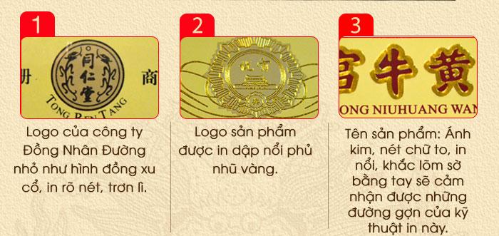 An cung ngưu hoàng hoàn đai vàng