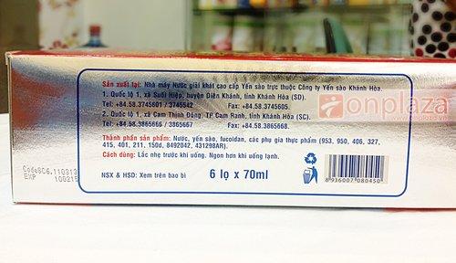 Thành phần, công dụng của sản phẩm được in trên thân hộp